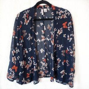 [Xhilaration] Floral Textured Kimono medium